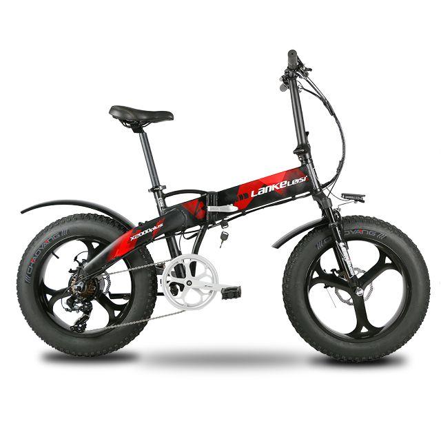 Lankeleisi X2000Plus Elektrische Fahrrad Fett Reifen Ebike 7 Geschwindigkeiten Full Suspension Faltbare 500 W Motor 48 V 12.8A Lithium-Batterie e-bike