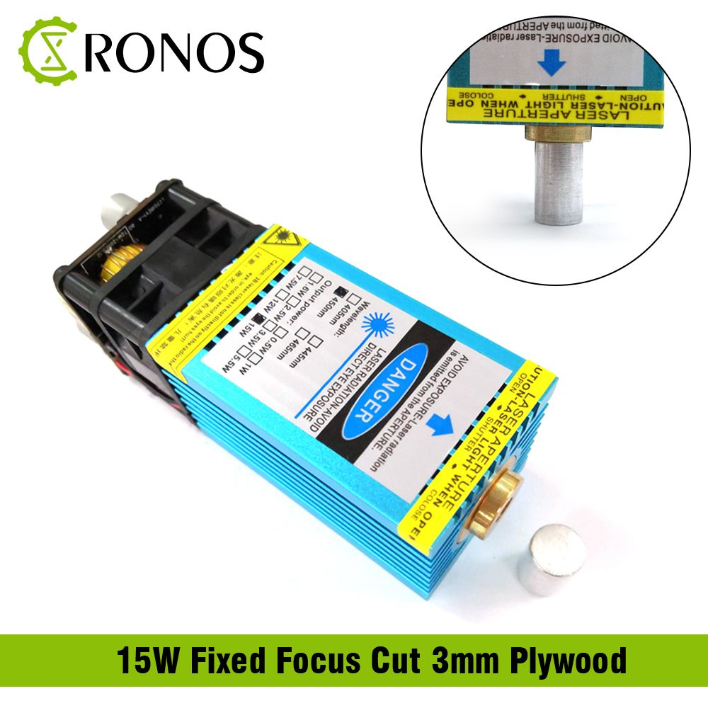 15W Fixed-Focus Blue-Violet Laser Module Can Engrave on stainless steel 15000mw DIY Carving Engraving Machine Engraver Accessory