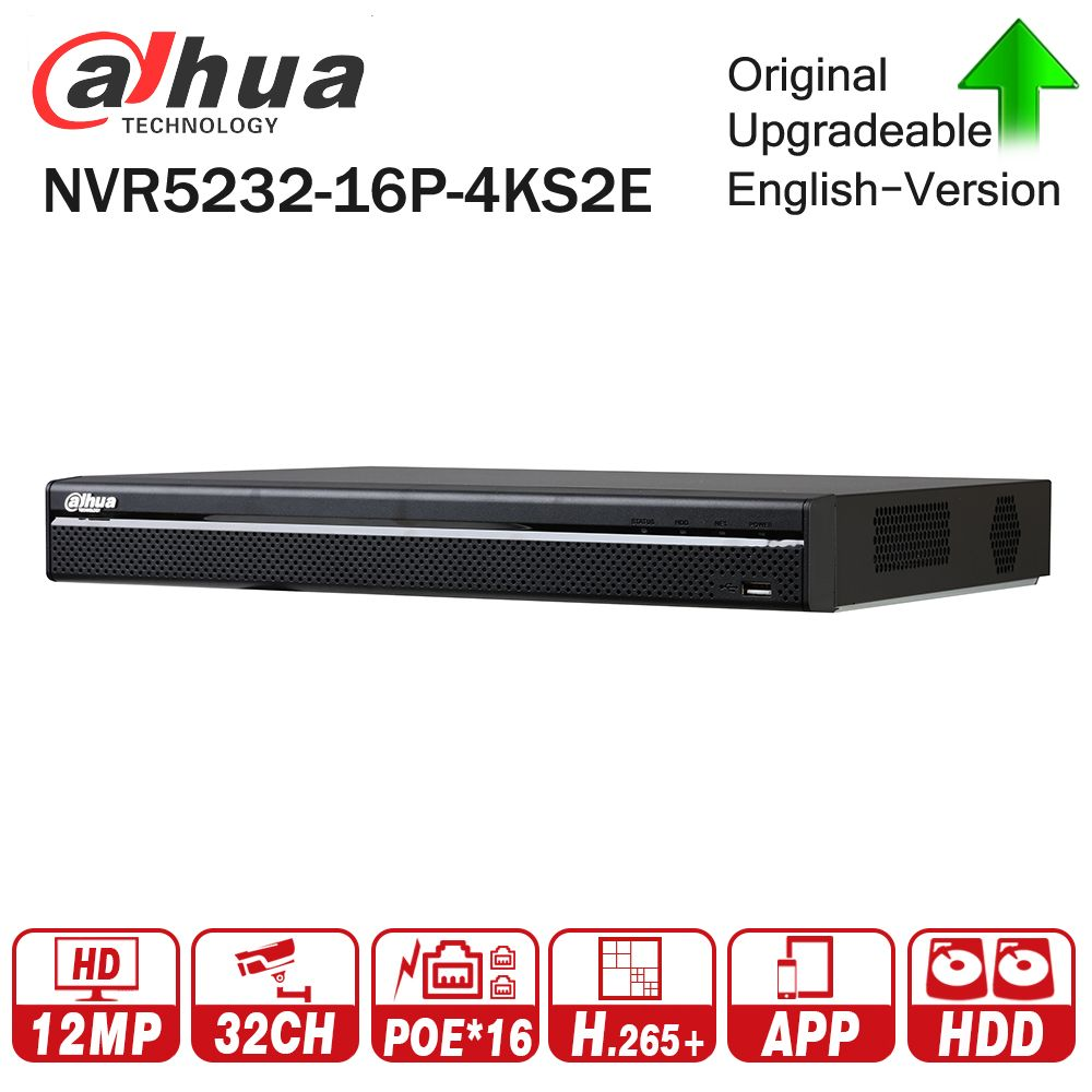 Dahua Pro 32CH NVR NVR5232-16P-4KS2E with 16CH PoE Port support Two way Talk e-POE 800M MAX Network Video Recorder for System