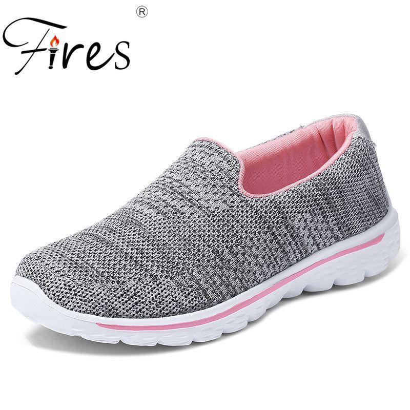 Incendios mujeres Correr sneakers deporte transpirable Zapatos señoras luz al aire libre jogging Zapatos femenino suave caminar sneakers