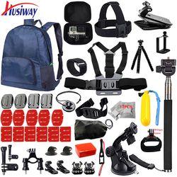 Husiway Accessories set for all Gopro hero 5 4 3 style kit mount for go pro / SJCAM / xiaomi yi camera / eken h9 tripod 14I