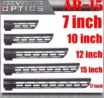 Tactical AR-15 M4 M-LOK MLOK 7 10 12 15 17 inch Slim Free Float Handguard Picatinny Rail Mount Bracket fit .223 5.56 AR15 M16