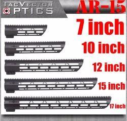 Taktis AR-15 M4 M-LOK Mlok 7 10 12 15 17 Inch Slim Free Float Handguard Picatinny Rail Mount Braket Cocok. 223 5.56 AR15 M16