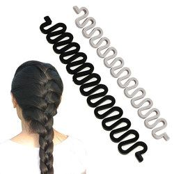 6 Colors Fashion Hair Braiding Braider Tool Roller With Magic Hair Twist Styling Bun Maker