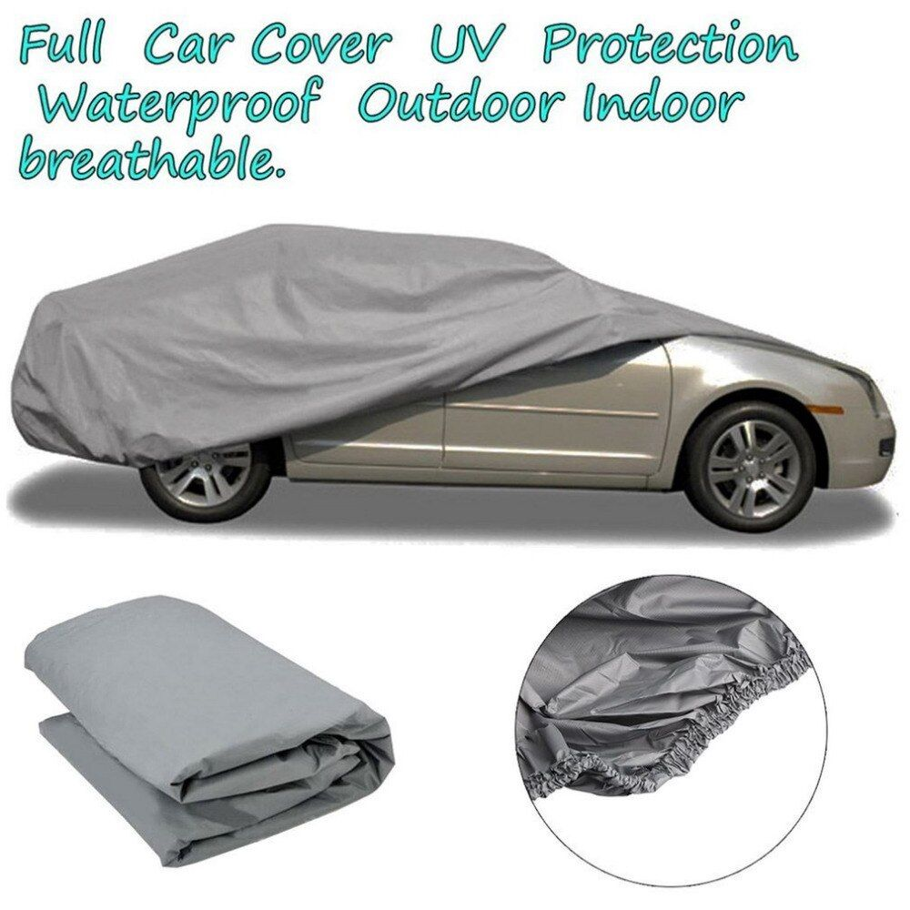 S/M/L Waterproof Dustproof Outer Membrane Full Car Cover UV Resistant Fabric Breathable Outdoor Rain Snow Ice Resistant