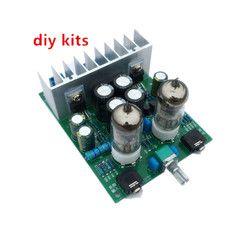 DIY Kit HI FI 6J1 Amplifier Tabung Headphone Amplifier LM1875T Power Amplifier Board 30 W Preamp Empedu Buffer