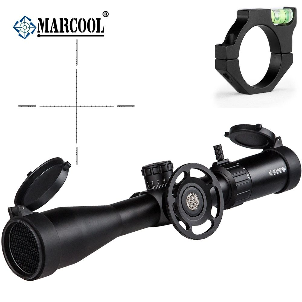 MARCOOL Airsoft Rifle Optics 4.5-18X44 SF Aim Guns Telescopic Sight Riflescope Telescope For Hunting With Bubble Mount Rings