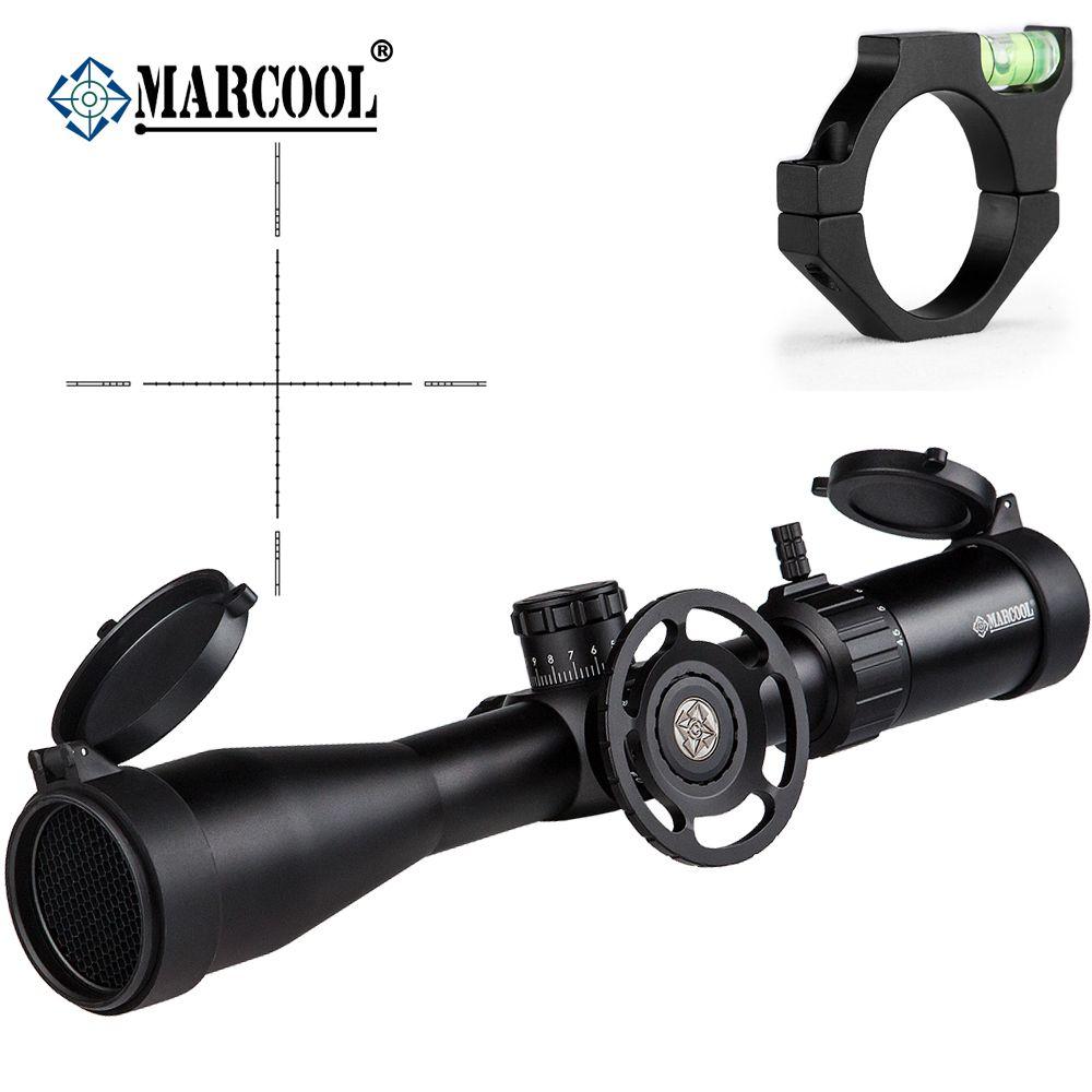 MARCOOL Airsoft Rifle Optics 4,5-18X44 SF Ziel Pistolen Teleskop Anblick Zielfernrohr Teleskop Für Die Jagd Mit Blase montieren Ringe