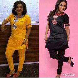 H & D 2018 femmes Africaines Afrique vêtements d'été à manches courtes dashiki ensemble broderie conception blanc noir lady blouse top avec un pantalon