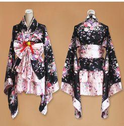Короткие Аниме косплэй японское кимоно лолита костюм красный женщина ребенок сексуальный готический костюмы на Хэллоуин для женское пла