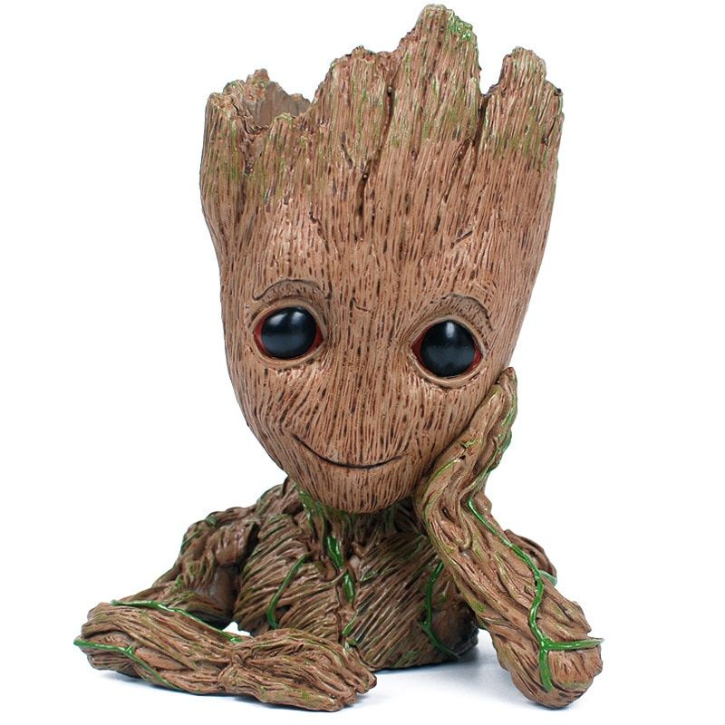 Promotional Price MV Movie Flowerpot Groot ABS Model Figure Toy High quality Baby Groot Antistress Tree Man Decoration Gift
