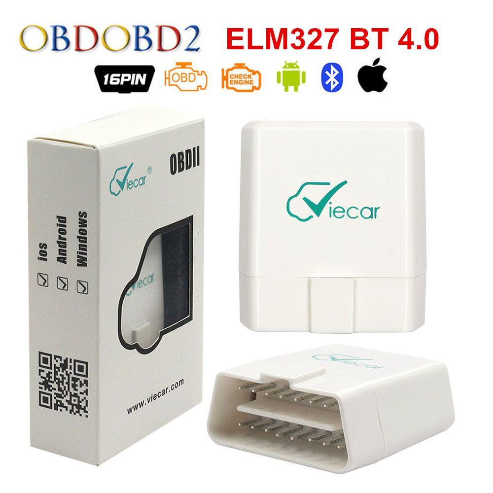 Viecar ELM327 Bluetooth 4.0 ELM327 V1.5 lecteur de Code ELM 327 1.5 OBDII Scanner de Diagnostic pour IOS/Android/Windows livraison gratuite