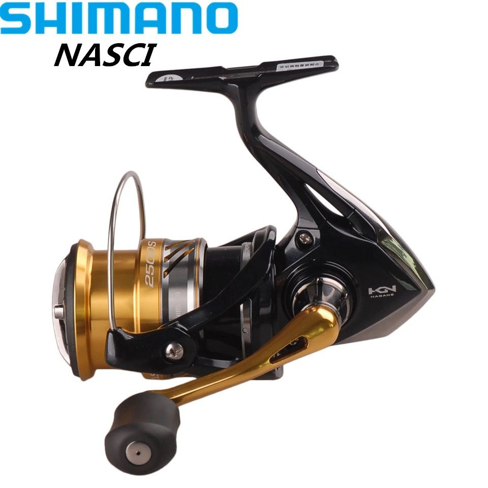 Shimano NASCI1000/C2000HGS/2500HGS Spinning Fishing Reel 4+1BB/6.2:1 Hagane Gear X-Ship Saltwater Lure Reels Moulinet Peche Coil