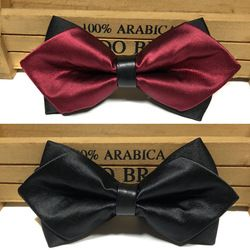 Fashion Tuxedo Bow Ties Men's Tartan Groom groomsmen Wedding Party Colorful Stripe Detachable Collar Men's Slim Free Shipping