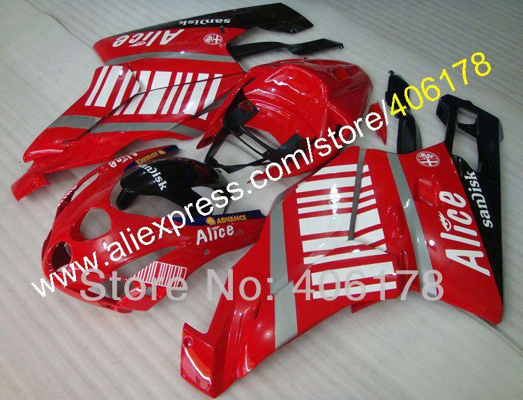 Heiße Verkäufe, fullset motorrad 999 vs 749 03 04 Verkleidung Für Ducati 999 749 2003 2004 Alice Verkleidungen kit (spritzguss)