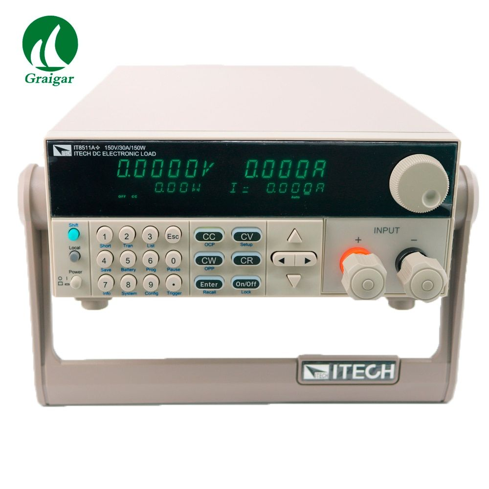 IT8511A+ Channel DC Electronic load Programmable 0-150V/ 1mA-30A/150W High Accuracy Resolution 0.1mV 1mA
