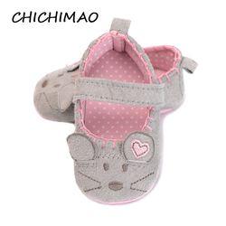 Nouveau-né Bébé Fille Chaussures Mignon Animal Princesse Enfant Anti-glissement Sur des Chaussures 0-18 Mois Enfants Lit Crochet et boucle Premiers Marcheurs