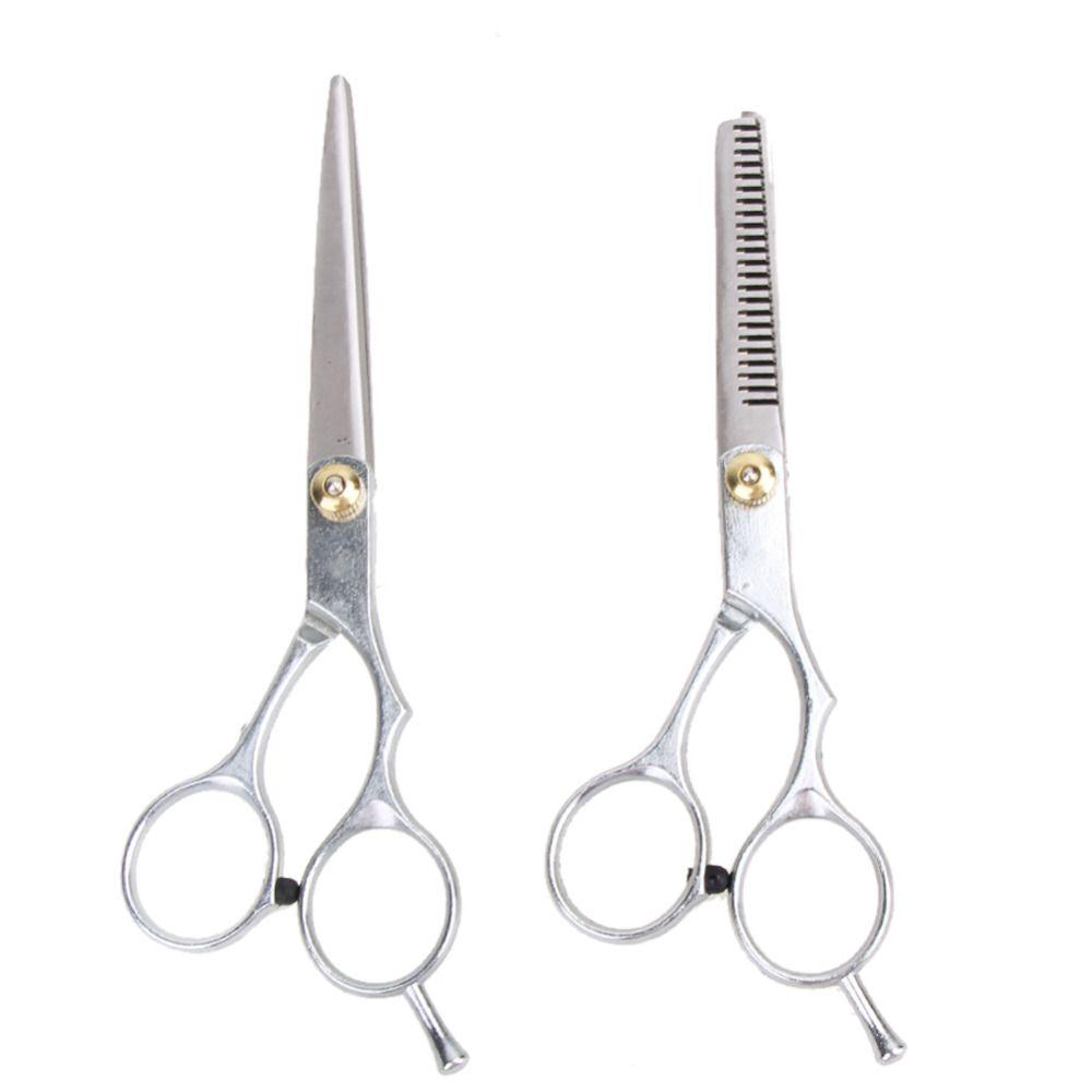 2 PCS 6 Inches Hair Cutting Thinning Scissor Hair Shears Barber Haircut Scissors Salon Hairdressing Scissors Hair Styling Tools