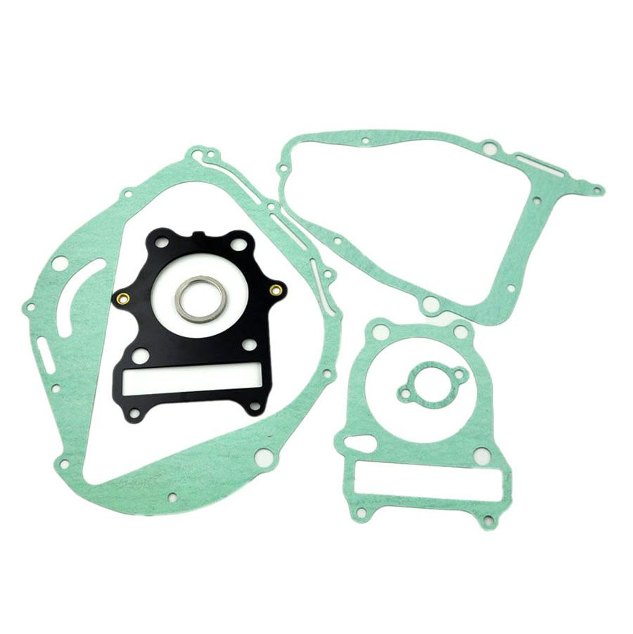 LOPOR For Suzuki GN250 Rebuild Full Complete Engine Cylinder Top End Crankcase Clutch Cover Exhaust Pipe Gasket Kit Set