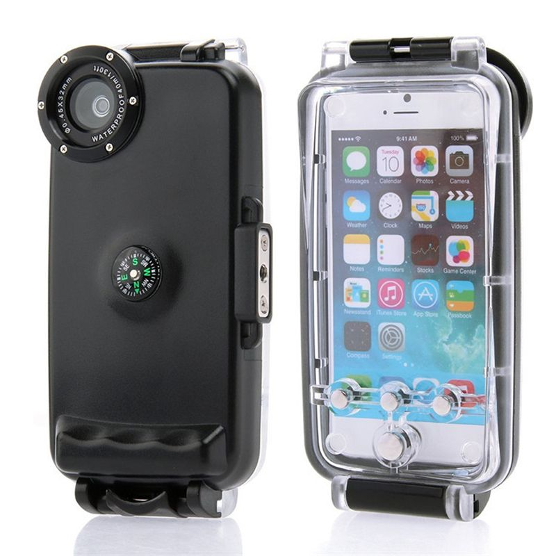 40M Diving Waterproof Case for iPhone 6 6S 4.7inch High Quality Plastic Waterproof Phone Bag Cover for Swimming Fishing Sports