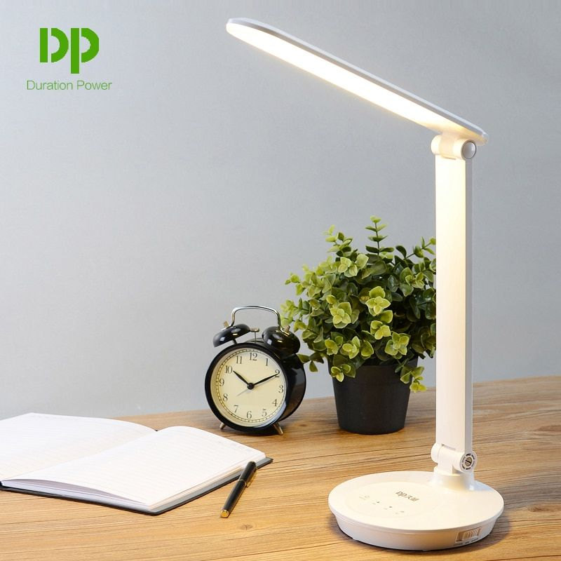 Duration Power Students 5W Table Desk Lamp Foldable Desk Led Lamps With Touch Dimmer Portable Rechargeable Lights 48 LED Lamps