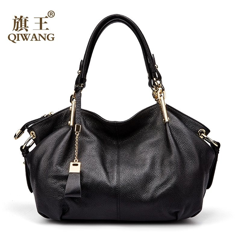 Qiwang Women Genuine Leather Bags Supple Leather Hobo Bags Large Gorgeous Handbags Shoulder Bags Full Grain Cowhide Totes
