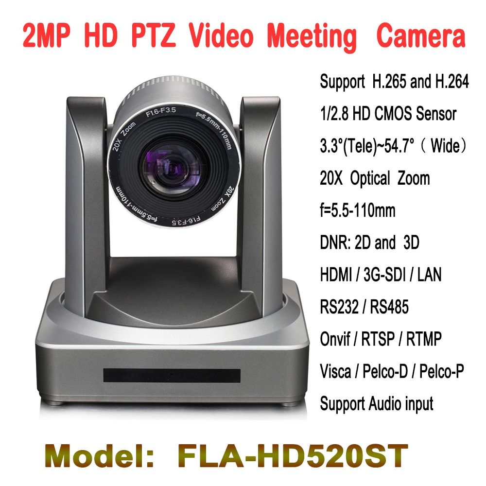2,0 Megapixel 20x Zoom PTZ Video Konferenz Kamera HD-SDI IP HDMI Audio eingang Für Tele-bildung Kirche Telemedizin
