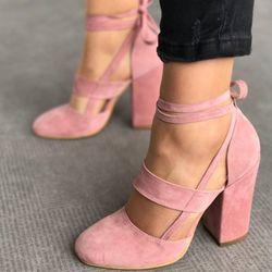 2018 nuevo de las mujeres de tacón alto bombas partido del verano tacones zapatos sólidos moda baile zapatos atractivos ocasionales las señoras bombas tacones DBT710