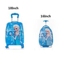 2018 de la historieta del cabrito bolsos de la carretilla maleta para niños viaje maleta del viaje del equipaje en las ruedas