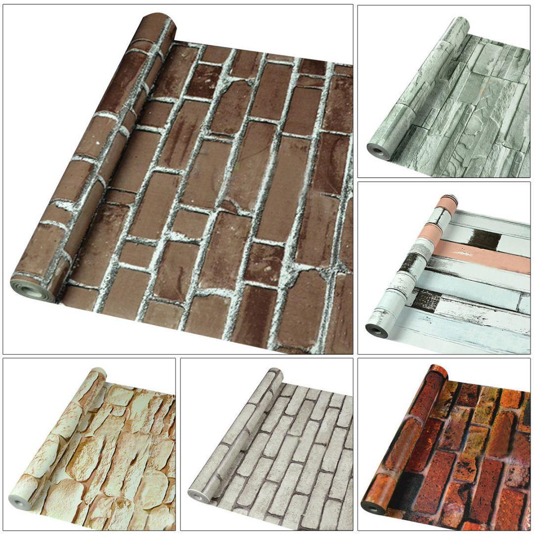 3D Moderne Tapeten Ziegel Stein Tapeten selbstklebende Wasserdichte Tapeten für Heimtextilien Wandaufkleber