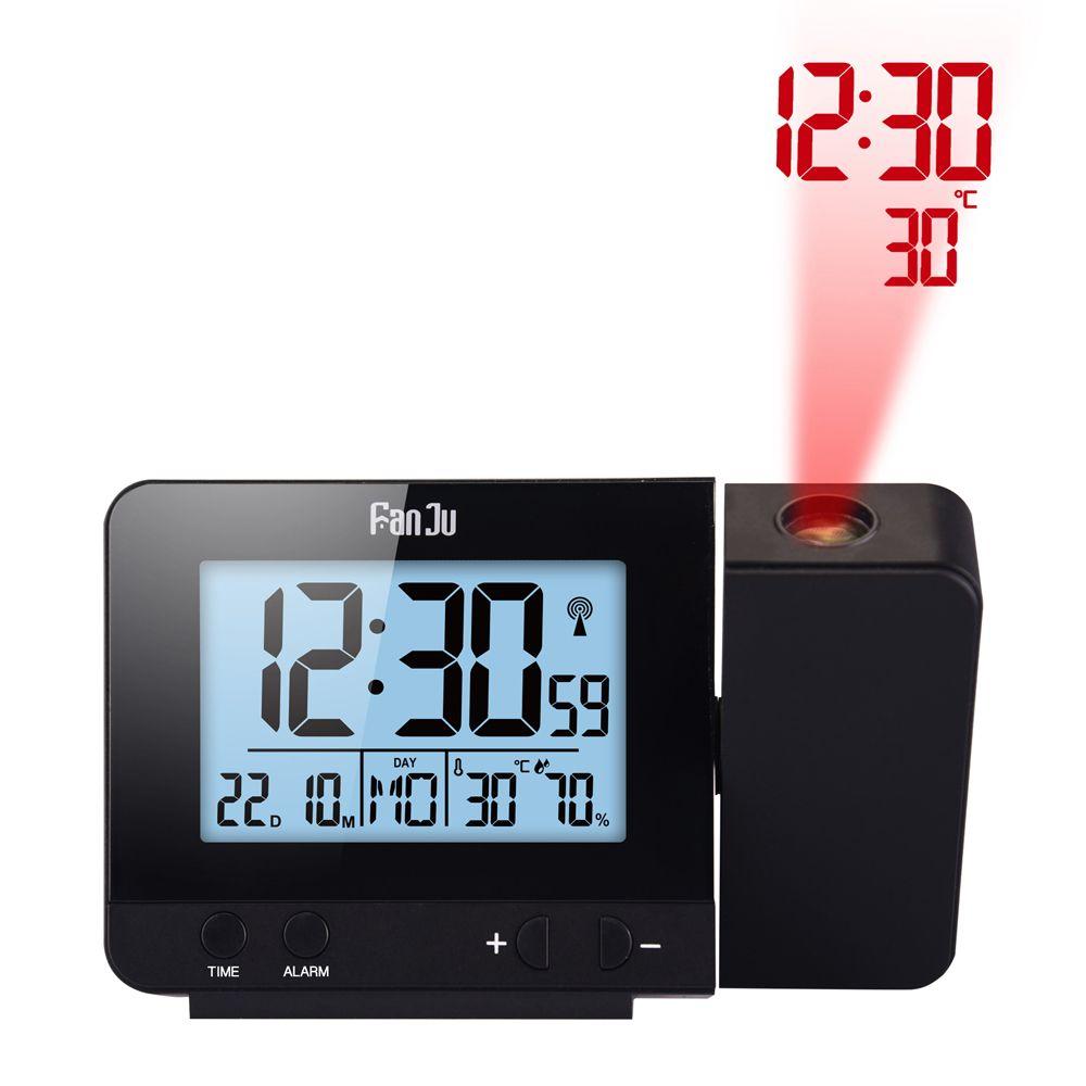 FanJu FJ3531 Projection Alarm Clock With Temperature And Time Projection Display Time/Temperature Desk Clock Office Home Decor