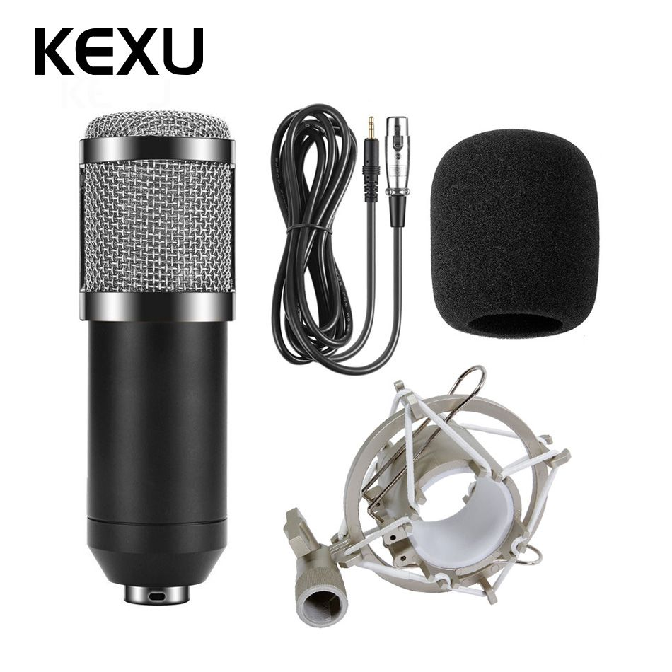 BM800 Professional Microphone Condenser Microphone for Video Recording Radio Studio Microphone for Computer with Shock Mount