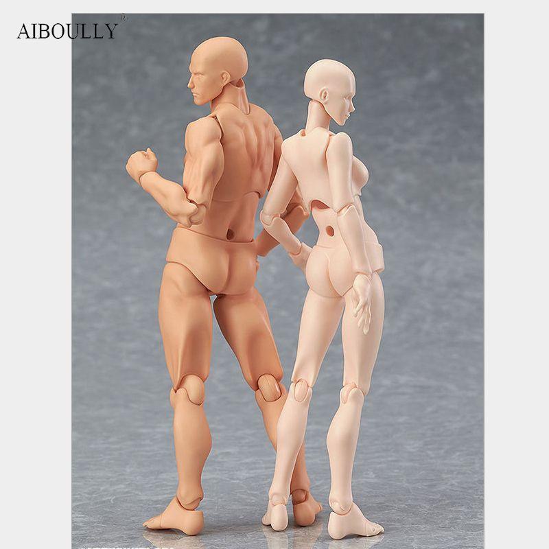 Аниме архетип он она ферритовый Figma подвижные тела Кун тела Чан ПВХ фигурку Модель Игрушечные лошадки куклы для коллекционных