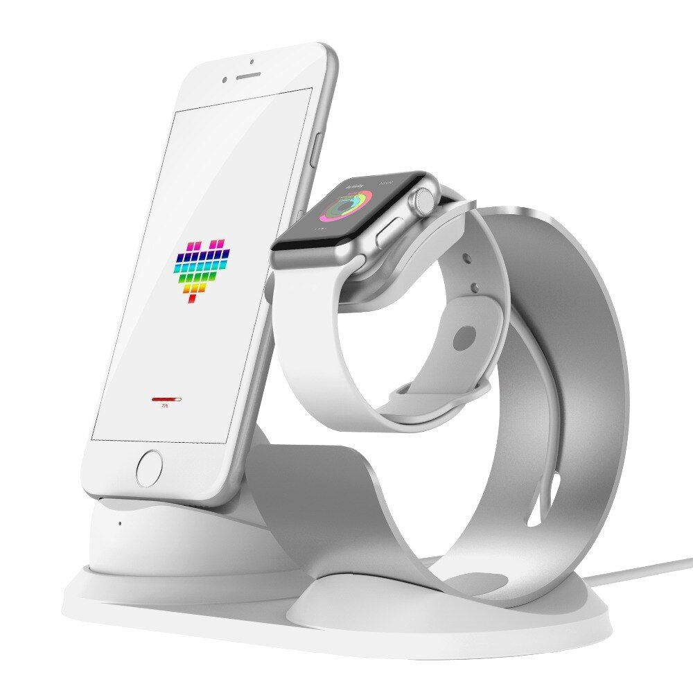 Pop socket desk Charging dock for Apple Watch stand Aluminum mobile charger stand phone holder charge station for iPhone support