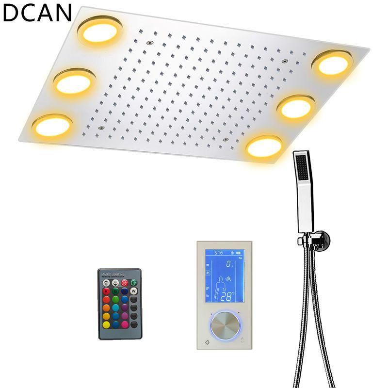 Digitalen Thermostat Brausegarnitur Controller Touch Control Panel Modernen Luxus Im Europäischen Stil SUS304 Regen Badezimmer LedCeiling