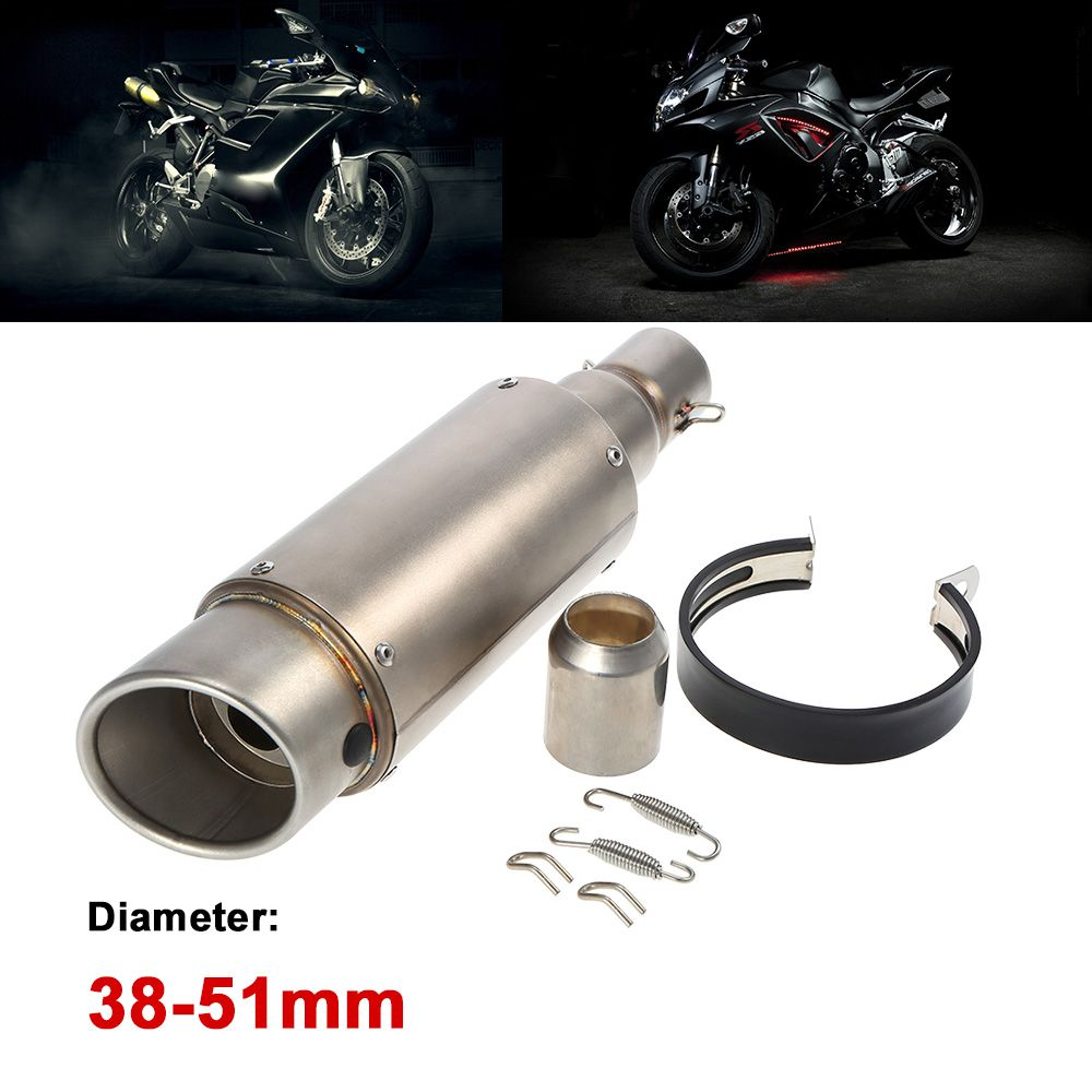 38-51mm frosting  colour Oblique tail Refit Exhaust Muffler With fit for Motorcycles ATV Universal