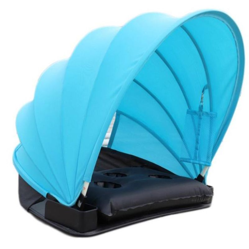 Sunshade Sun Protection Personal Tent Foldable Sun Shade Mini Beach Umbrella Parasol with Pillow Blanket Carry Bag