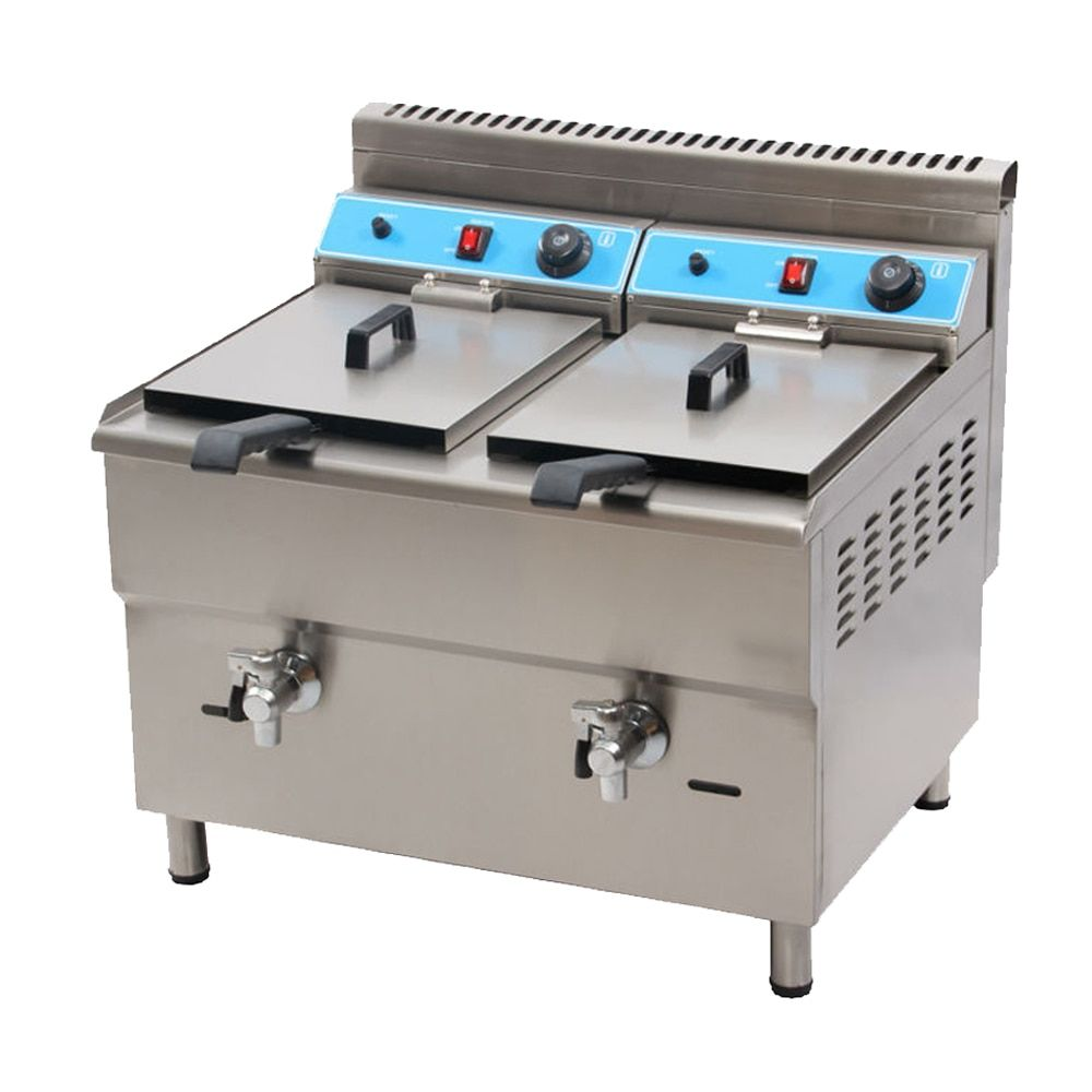 MARCHEF 34L Double Tank Professional Kitchen Equipment Double Tanks Gas Industrial Deep Fryer