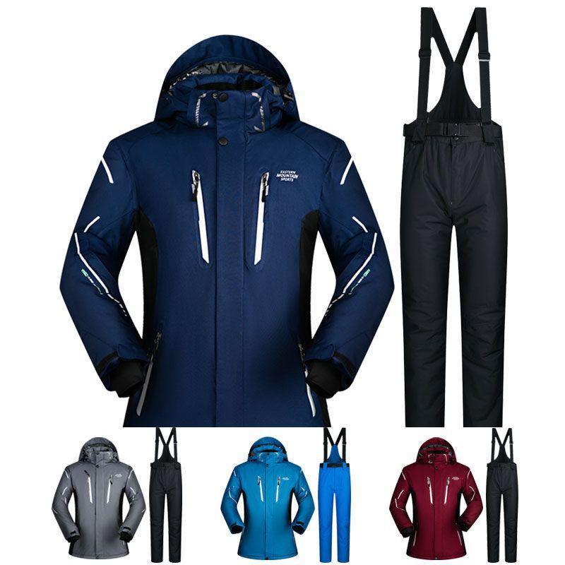 Ski Anzug Männer Winter 2018 Wasserdicht Winddicht Verdicken Warme Schnee Kleidung Männer Ski Sets Jacke Skifahren Und Snowboarden Anzüge Marken