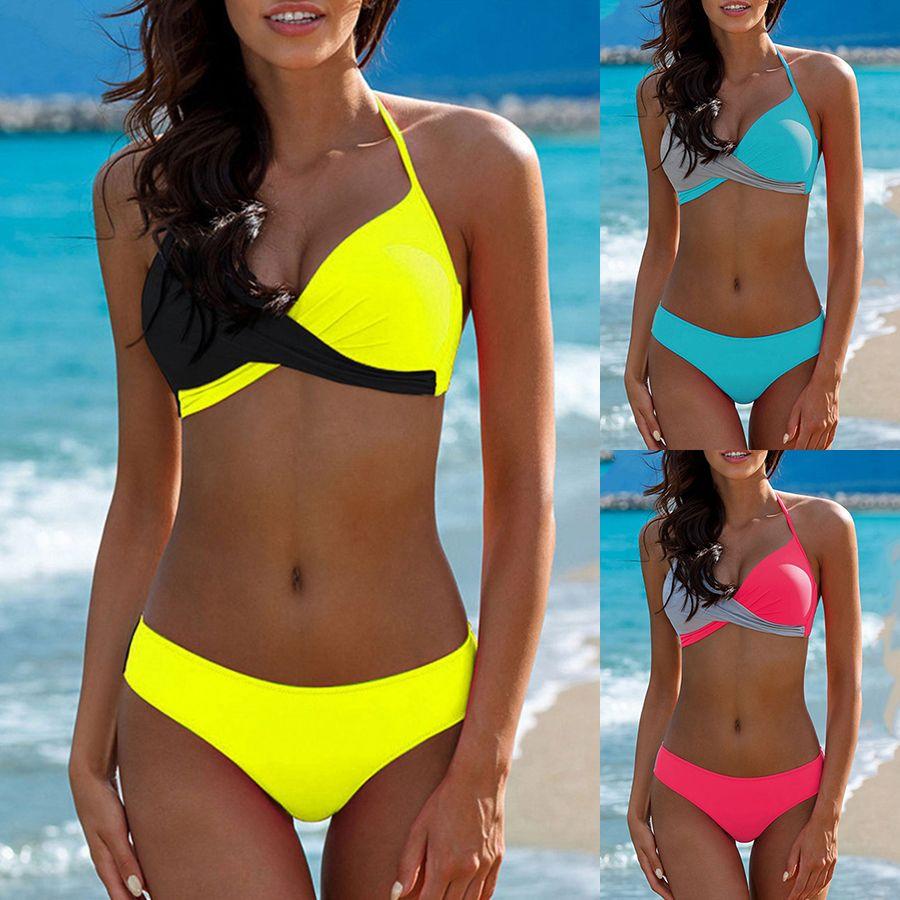Sexy Bikini Push Up Swimwear Women biquinis feminino 2018 mujer Swimsuit tanga Swimming Bathing Suit Plus Size Bikinis Set XXXL
