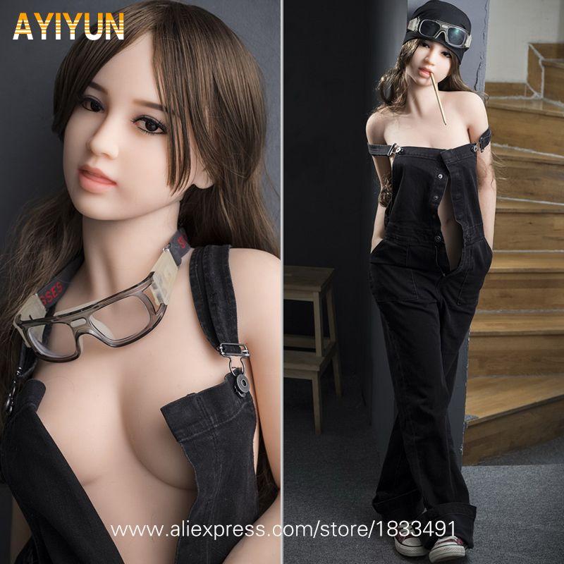 AYIYUN Lebensechte Echt Asien Sex Puppe, Volle TPE Perfekte Körper mit Skeleton Liebe Puppe, oral Vagina Pussy Anal Puppen