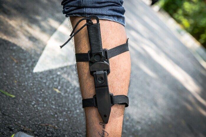 Couteau de sauvetage parachutiste américain emballage de jambe taille de cravate couteaux lame fixe chasse couteau droit gaine ABS