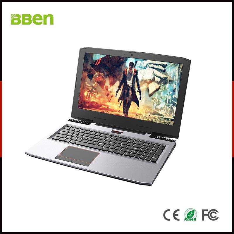 BBEN G16 15,6 ''Laptop Windows 10 Nvidia GTX1060 GDDR5 Intel i7 7700HQ 16 gb RAM M.2 SSD IPS RGB Backlit tastatur Gaming Computer