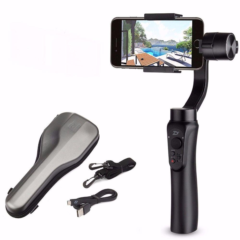 Zhiyun Glatt Q Glatt Q Hand Gimbal Stabilisator für Smartphone für iPhone 7 6 s Plus S7 S6 Drahtlose Steuerung vertikale Schießen