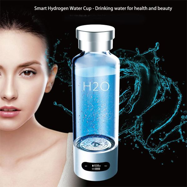 Cloud cup Newest Rich Hydrogen Water Generator 480ml Smart Cup Energy Hydrogen-rich Water Ionizer Pitcher Super ORP