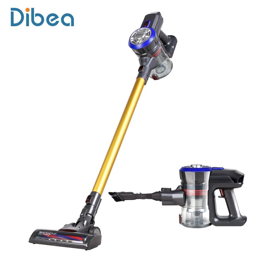 Dibea D18 Lightweight Cordless Stick Vacuum Cleaner, 9000pa Powerful Suction Bagless Rechargeable 2 in 1 Handheld Car Vacuum