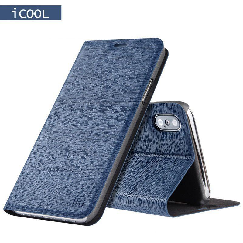 Pour iPhone X Étui En Cuir pour iPhone 8 7 Plus La Couverture De Luxe Style Book Case Flip pour iPhone 6 6 s Plus 5 5S se Protection couverture