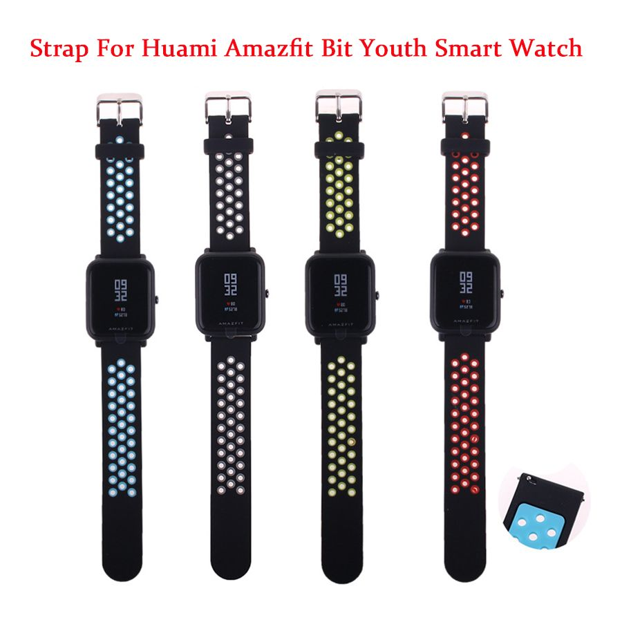 Replace Watch Straps for Original Xiaomi Huami Bip BIT PACE Lite Youth Smart Watch Double Color Silicone Band for Amazfit Youth