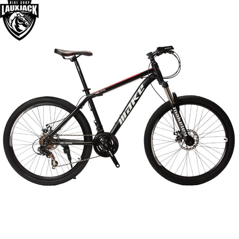MAKE Mountain Bike Steel Frame 24 Speed Shimano 26 Wheel Mechanical Disc Brakes MTB