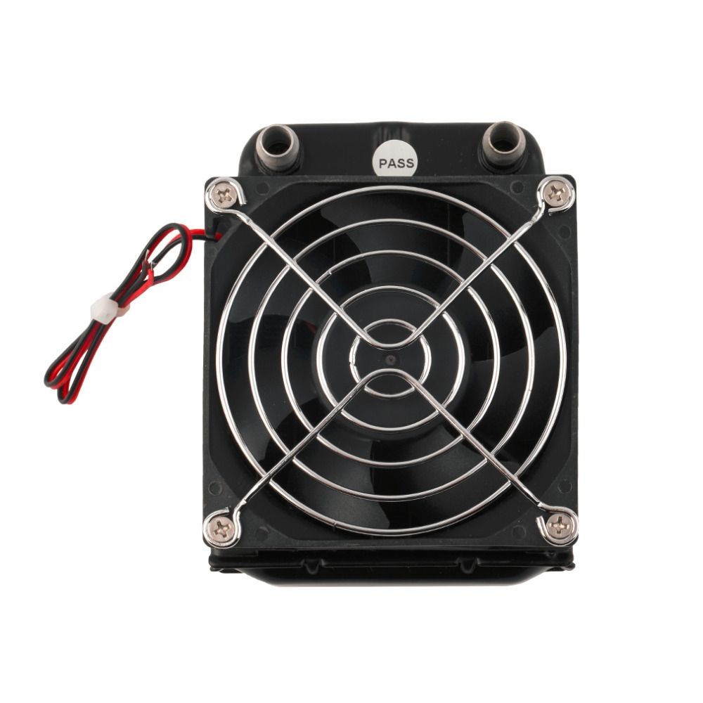 2017 Newest Aluminum 80mm Water Cooling cooled Row Heat Exchanger Radiator+Fan for CPU PC Eletronic Hot Drop Shipping